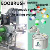 Circulation water treatment Automatic tube brushing for heat exchanger