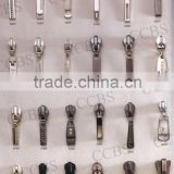 all kinds of key locking zipper Plating Sliders