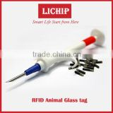 LC-RD23 Low frequency 134.2khz Fish under skin using RFID animal glass Tag/tube (with Syringe)