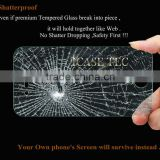 new Premium Tempered Glass Screen Protector for iPhone 4 4s With Retail Package,round edge