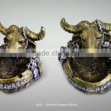wholesale cigar ashtray cigarette ashtray For Home Decoration Fashionable and Rotating Cow's head ashtray