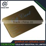 high quality custom metal ID card ,wholesale blank metal card