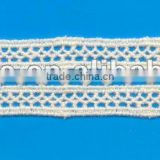 2012 new white scalloped cotton lace trim for flower tie