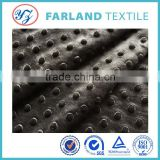 embossed black dot super soft fabric used for home textile and sofa                                                                         Quality Choice