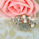 Wholesale Top Hat Crystal Brooch Pin with Pearl, Pearl Crystal Brooches, for wedding dress