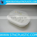 clear plastic soap boxes with tray