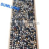 Pebble Foot Massage Mat 40*150mm BLACK White mixed pattern blanket Smooth Colorful Natural Stone