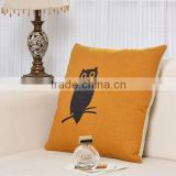 Wholesale & Retail, 45x45cm Owl Pillow Covers Linen Cushion Covers, Replacement Cushion Covers