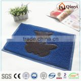 Anti-slip great elasticity PVC toilet mat,furnishing products/pvc floor mat - qinyi