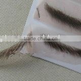 alibaba china 100% Human Hiar eyebrows with lace base eyebrows handmade false eyebrows costume eyebrows