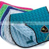 zigzag Horse Satin Saddle Pads / Horse Riding Quilted Saddle Pads / Horse Colors Saddle Pads