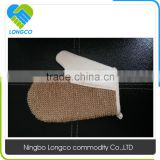100% Natural sisal bath exfoliating scrubber glove