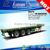 2016 widely used 40foot application flatbed semi container trailer truck with fastening lock