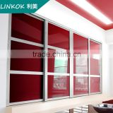 Factory direct pvc closet bedroom wardrobe sliding door laminate digital designs                                                                         Quality Choice