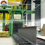 h beam steel production line , Hot rolled I beam shot blasting machine