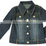 Lastest design women 100% cotton denim jacket ladies long sleeve jackets high quality factory