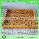 Factory wholesale Rattan Wicker storage basket fruit tray bread basket makeup cosmetics organizer storage box