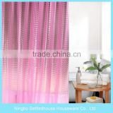 High Quality luxury Waterproof Printing custom peva 3d shower curtain
