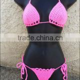 Full handmade ladies Crochet bikini set, crochet women swimwear ,women beach swimsuits