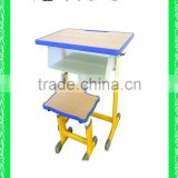 adjustable school desk school modern combo desk school desk with bench HXZY043