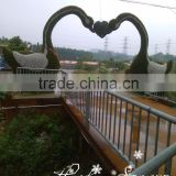 factory direct sale large garden ornaments artificial topiary frame animal green sculpture