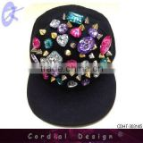 2013 hot sale multi color huge bijou hip hop caps free size for adult