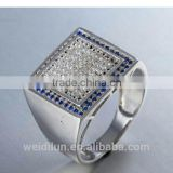 fashion jewelry 925 silver jewelry fashion ring with semi precious stone finger rings for men