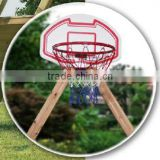 Basketball ring with net and board, with square swing corner 90x90