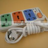 Promotional gifts industrial socket/2 pin plug european standard extension cord/3 way multi electrical extension socket                                                                         Quality Choice