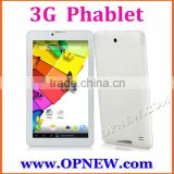 China OEM 7 inch Quad Core Phablet 3G GSM Phone Tablet PC MTK6582 Android 4.4 WCDMA Phablet Dual Sim Phone Call GPS HD Screen