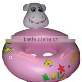 Promotional Pvc Swimming Pool cartoon Inflatable Ride On Toy, Kids Used dog seat inflatable Ride On Toys