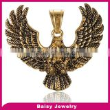 hot sell gold plated eagle 316l steel pendants stainless