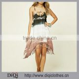 Chic Wholesale Fashion Women Cami Dress, Featuring Adjustable Straps Crisscross Cutout Back Knotboho Tie Dye Cami Dress