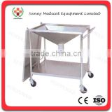 SY-R047 cheapest stainless steel hospital Operation cleaning cart cleaning trolley