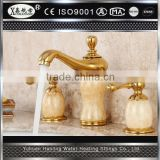 brass material natural jade Faucets Bathroom antique gold plating faucet