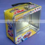Rectangular lunch tin box with PET window