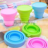 Hot Sale Retractable Water Cup Folding Cup Drinking Portable Silicone Collapsible Outdoor Mug