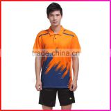 Sublimation Printed 100% polyester Men Badminton Clothing Women Sports Wear