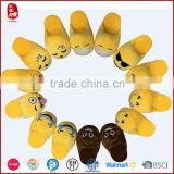 Women Gender and EVA Outsole Material Womens Girls whats app Emoji Smiley Plush Slipper                                                                         Quality Choice