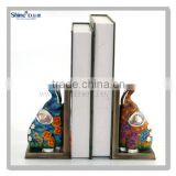 polyresin gifts cute colorful elephant statue bookends cheap unique adjustable children bookend