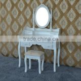 Antique home decoration wooden white dresser table for ladies bedroom furniture