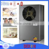 Economical micro Deron heat pump air to water, Domestic hot water, floor heating and space cooling