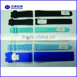 Most popular sports watch band ,durable material,fashional design silicone rubber watch band