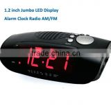 F-1754 1.2 inch red/green led display alarm clock