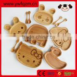 Cute rabbit wooden healthy children using custom unique cutlery set