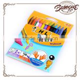 High Quality Children's Art 12/16/24/ Colors Box Plastic Caryon Set Non-toxic Erasable Crayons Drawing