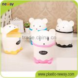 standing Household Colorful Eco-friendly cute Panda customized waste bin