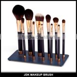 High quality Makeup brushes 11 piece Animal hair Gold Magnetic makeup brush gift set with Metal plate