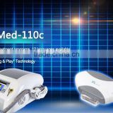 Med-110c 2015 hot sell laser hair removal machine with cooling mini laser skin whitening machine for home use