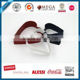 Color painted 3pcs heart shape metal cookie forms, coated cookie cutters in custom design